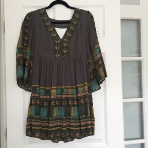 Free People Multicolor Cut-Out Dress